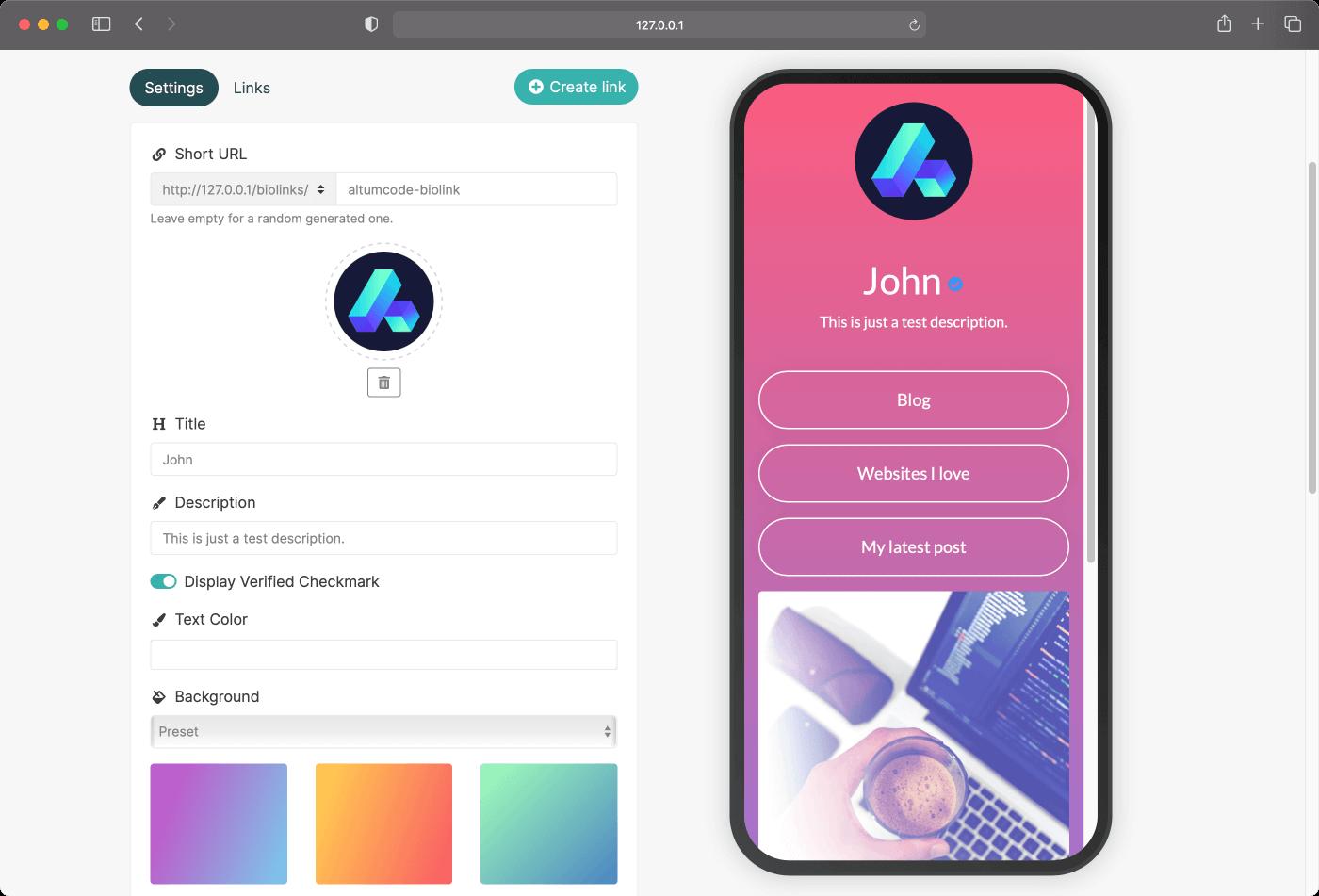Páginas de Enlacify